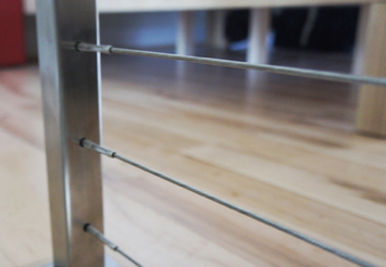 Cable railing square post application