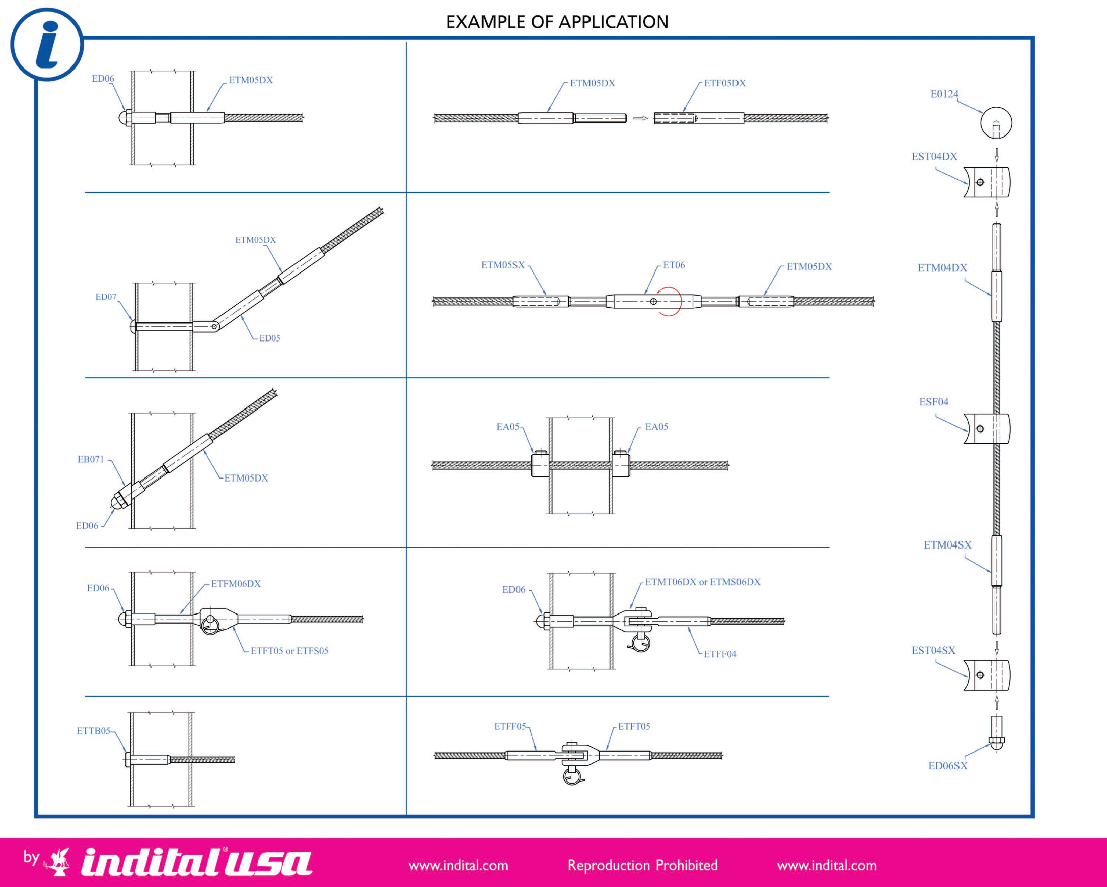 Cable Railing Application Diagram