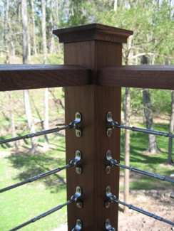 Cable Railing with Wood Posts