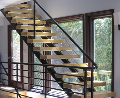 Steelnox Railing System With Cable Installed By SoCal Stairs.