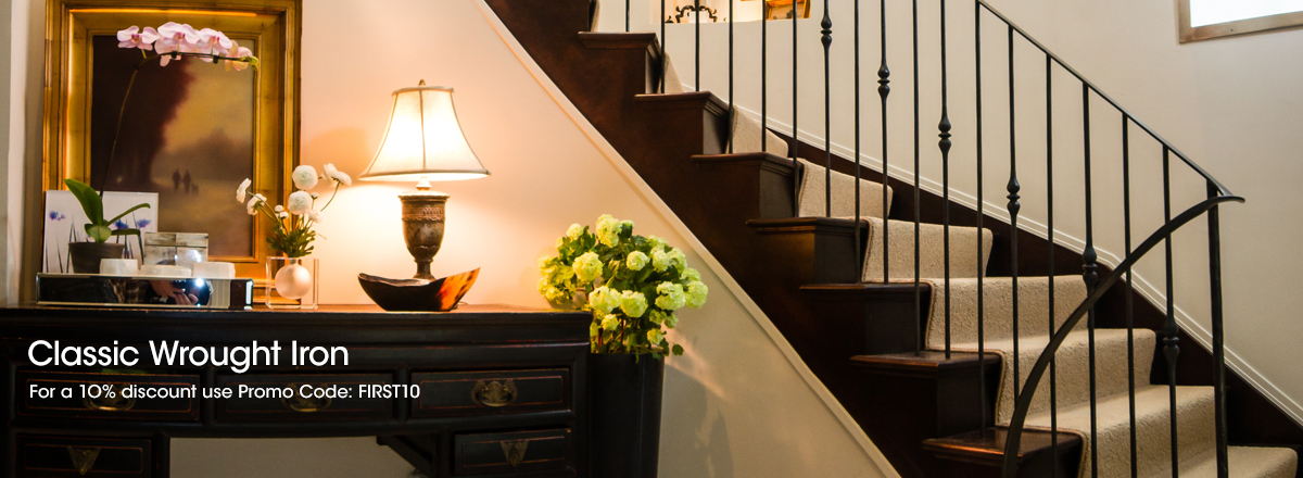 our wrought iron balusters bring an old world touch to any space