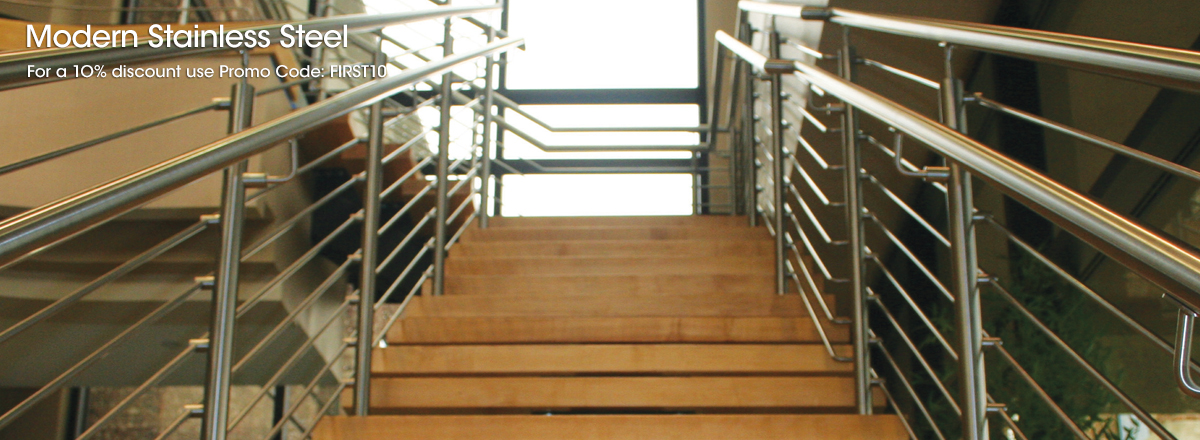 Give Your Stairs A Modern Profile With Our Stainless Steel Railing Systems